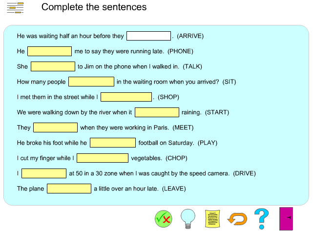 http://www.englishgrammarsecrets.com/pastsimpleorcontinuous/exercise5.html