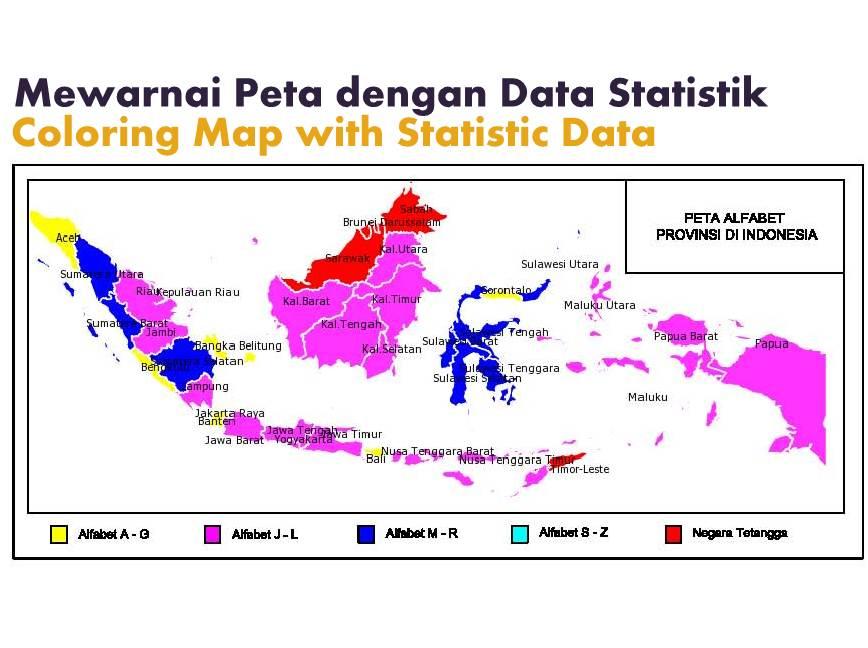Mewarnai Peta Dunia Dan Indonesia Dengan Data Statistik Andyyahyacom