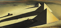 SALVADOR DALÍ Pirámides Gizeh 1957