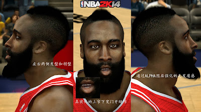 NBA 2K14 Realistic James Harden Cyberface Mod