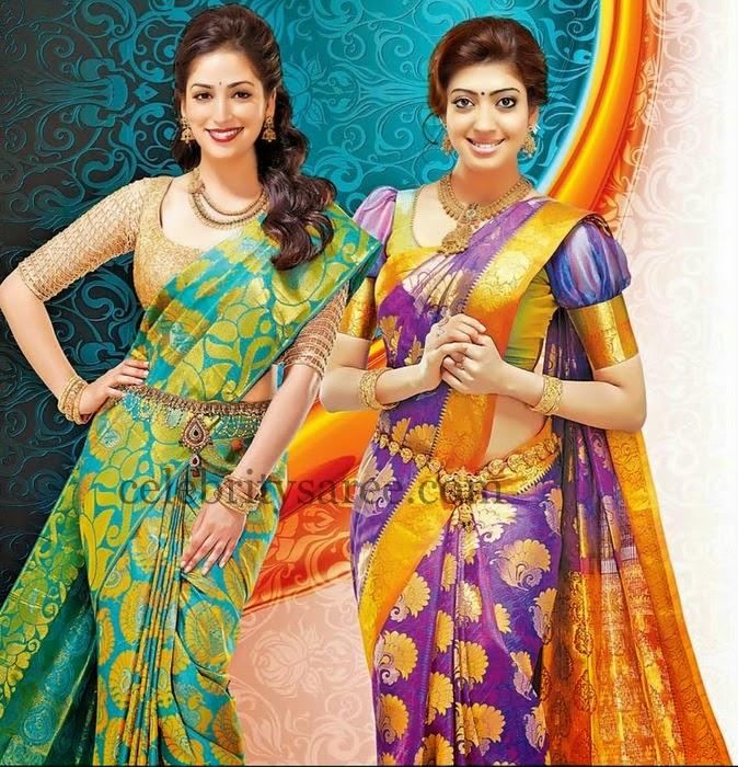 Praneetha Pure Silk Saree in Purple