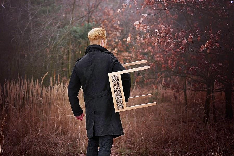 Silla mecedora Haluz, un diseño muy natural de Tomas Vacek