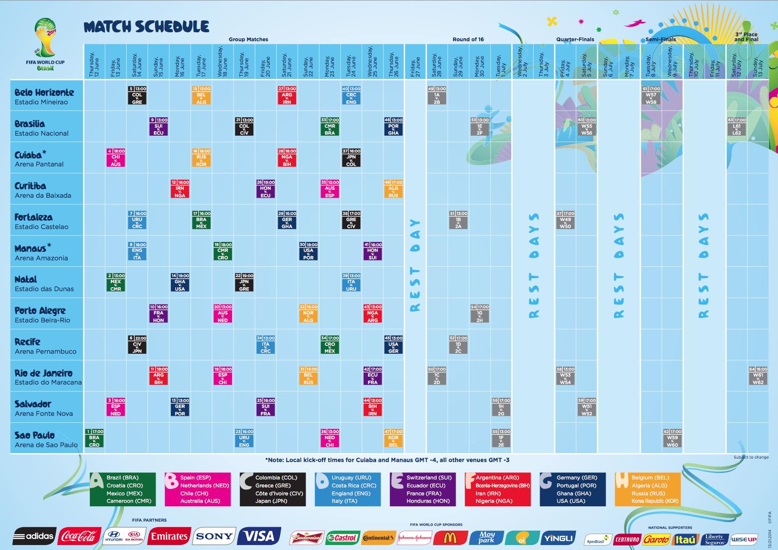 Fifa Schedule