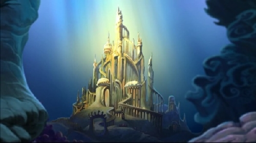 King Triton Ariel castle filmprincesses.blogspot.com