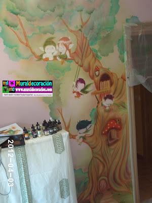 terminando decoración infantil
