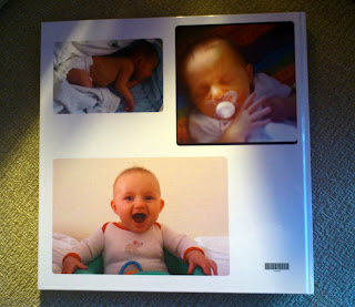 Vistaprint photobook back cover cute baby