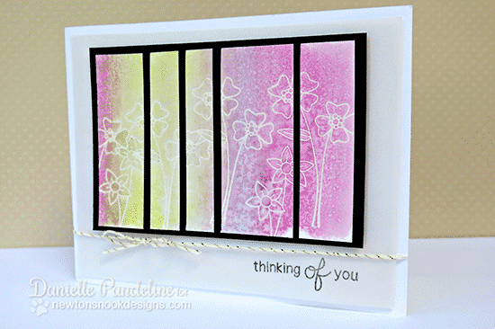 Watercolored Floral Panel Card with Danielle Pandeline | Versatile Vases Stamp Set | Newton's Nook Designs
