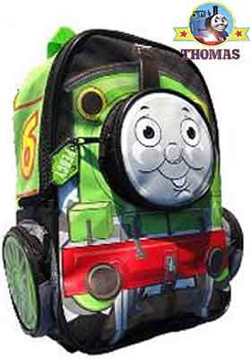 Thomas and Friends Percy the green engine 12 inch toddler backpack padded adjustable shoulder straps