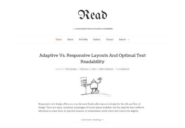 Read WP minimalist simple theme