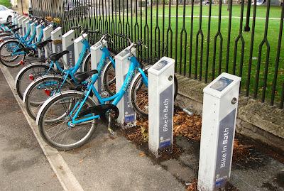 Bike in Bath, docking station, UK
