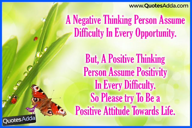 positive thinking vs negative thinking quotes in english