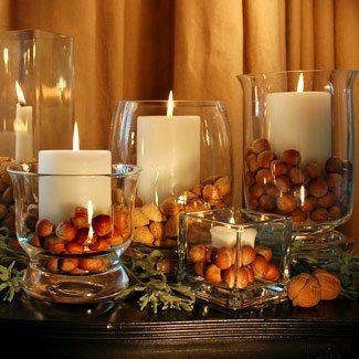 centros de mesa con bases y jarrones de cristal parte