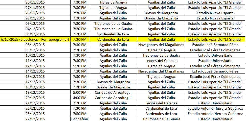 Calendario de las Águilas en la temporada 2015-2016 Calendario%2BAguilas%2Bdic
