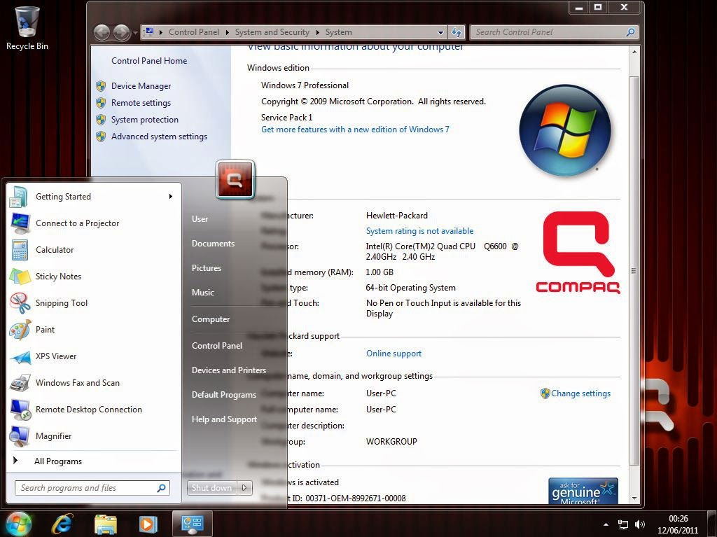 hp compaq windows 7 ultimate x86 x64 pre activated iso