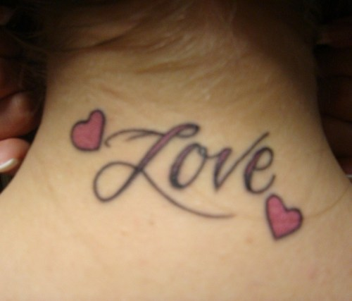 i love you tattoo. i love you heart tattoo.