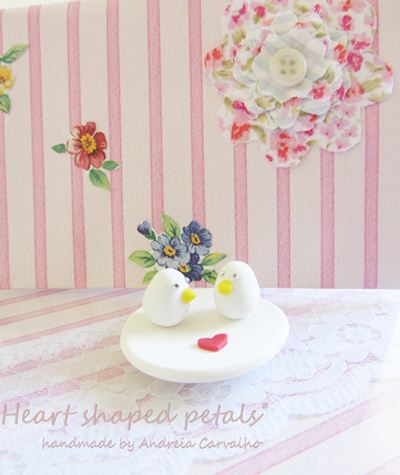 Wedding gifts dish with birds