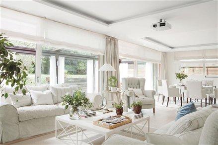 Salón blanco puro