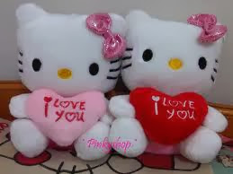 Boneka hello kitty pasangan