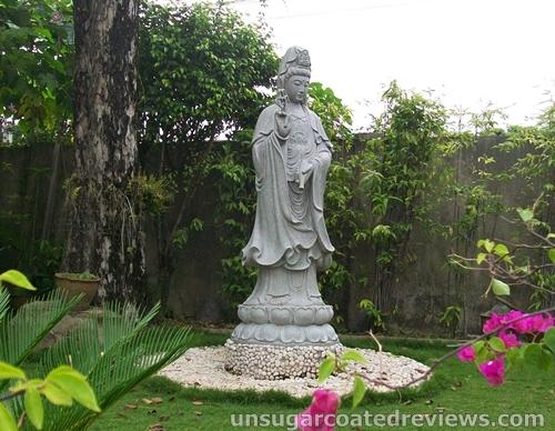 Buddha statue in Lon Wa Buddhist Temple in Davao City, Philippines