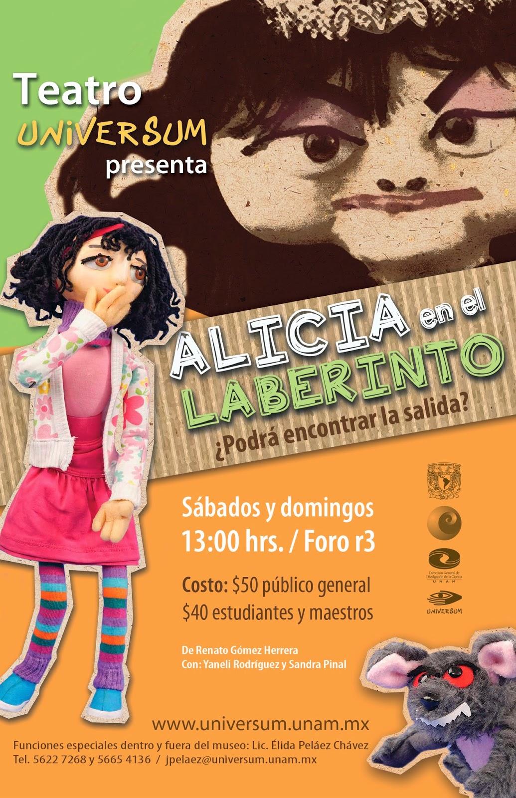 """Temporada 2014 de """"Alicia en el Laberinto"""" en UNIVERSUM"""