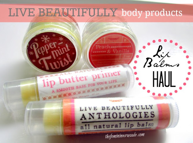 Live Beautifully Lip Balms