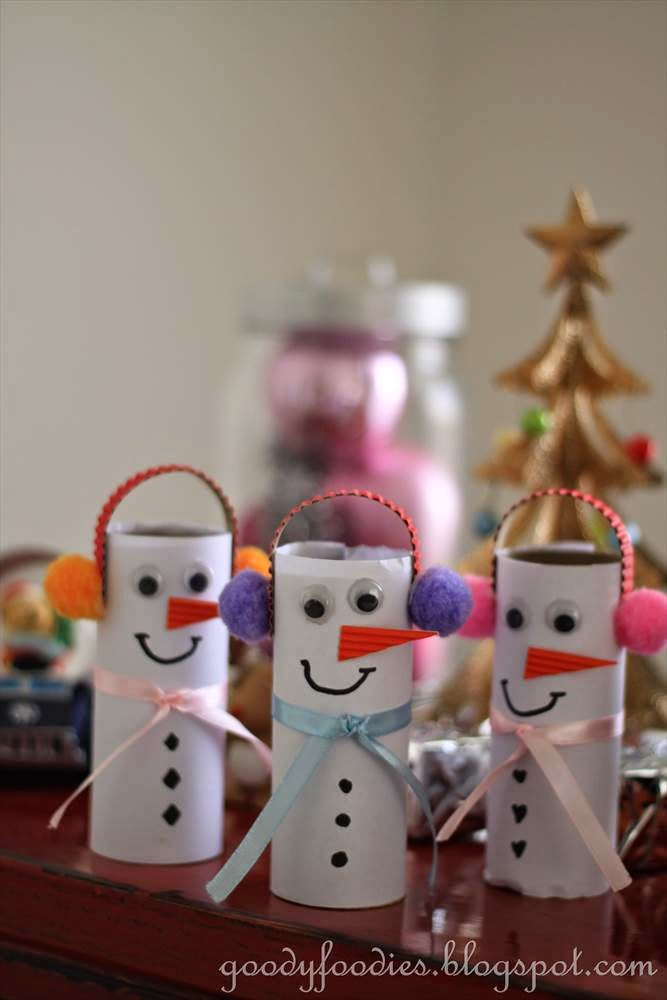 Goodyfoodies Easy Christmas Crafts For Kids How To Make A Snowman