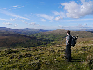 Enjoying the view of Dentdale from Galloway Gate