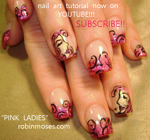 Robin moses nail art pink foil with lady face nail art justin pink foil with lady face nail art justin bieber nail art word bubble nail design word cloud nail art nail art tutorials up for monday xoxoxo prinsesfo Images