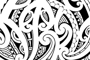 Half Sleeve Tattoo Maori Style on indian traditional home design