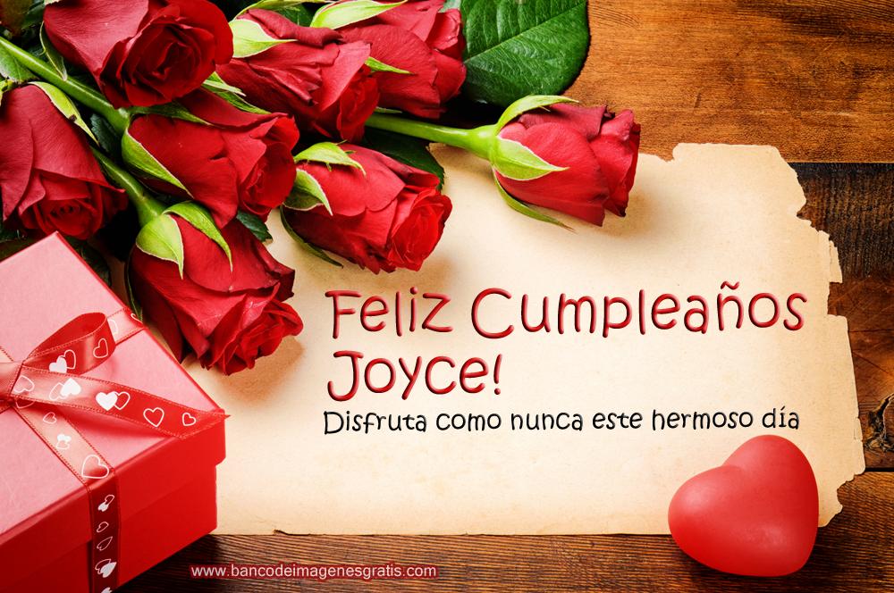 ... de cumpleaños con rosas rojas, mensajes y nombres de personas