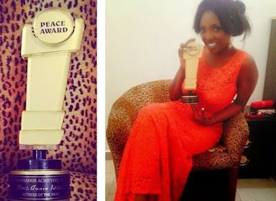 Annie Idibia receives Peace Ambassador Award in Abuja