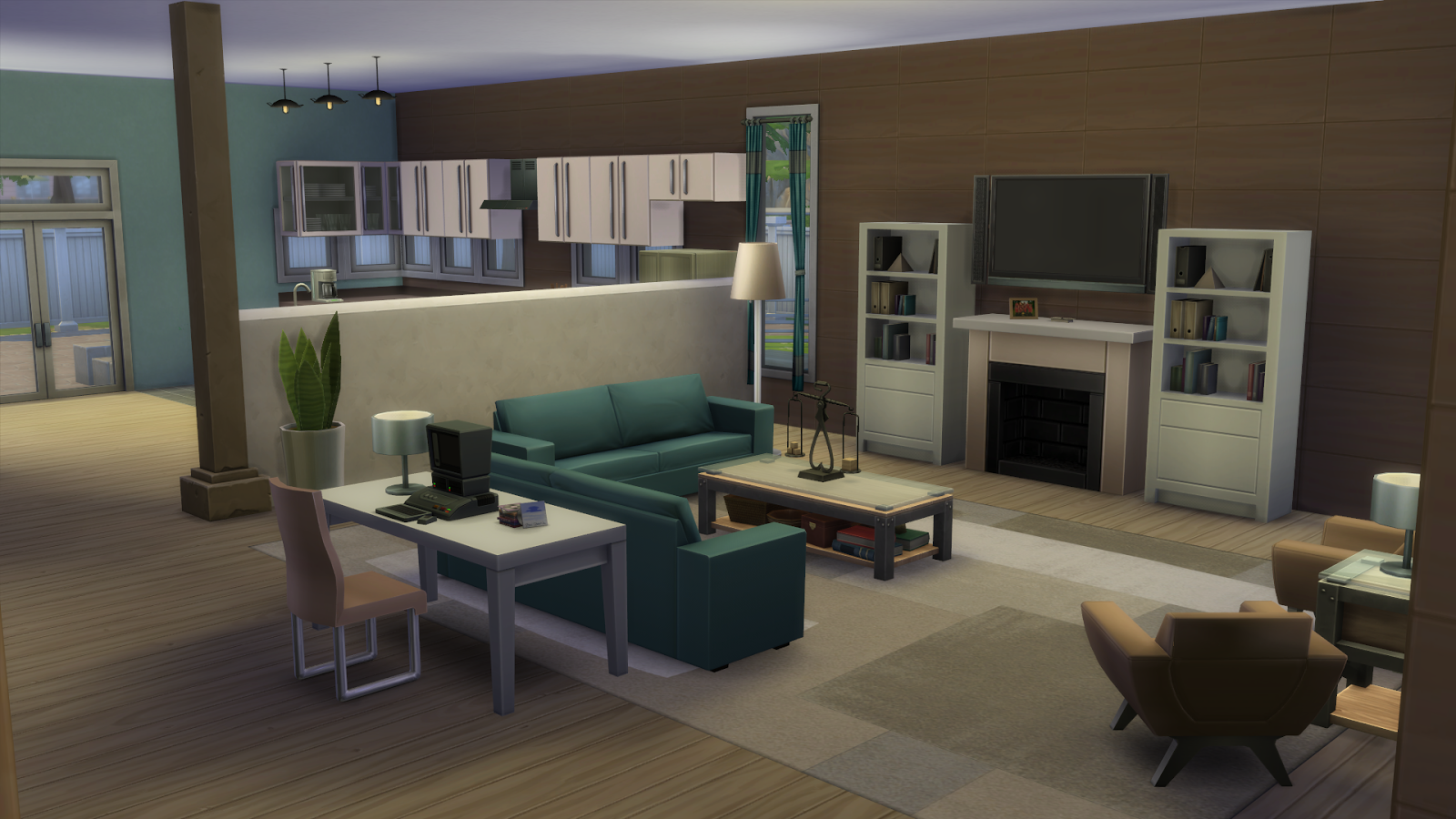 Simply ruthless emotion themed rooms aspire family home for Sims 3 dining room ideas