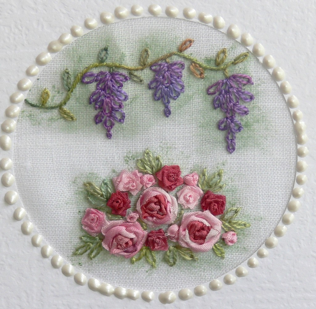 how to make silk ribbon embroidery roses step by step