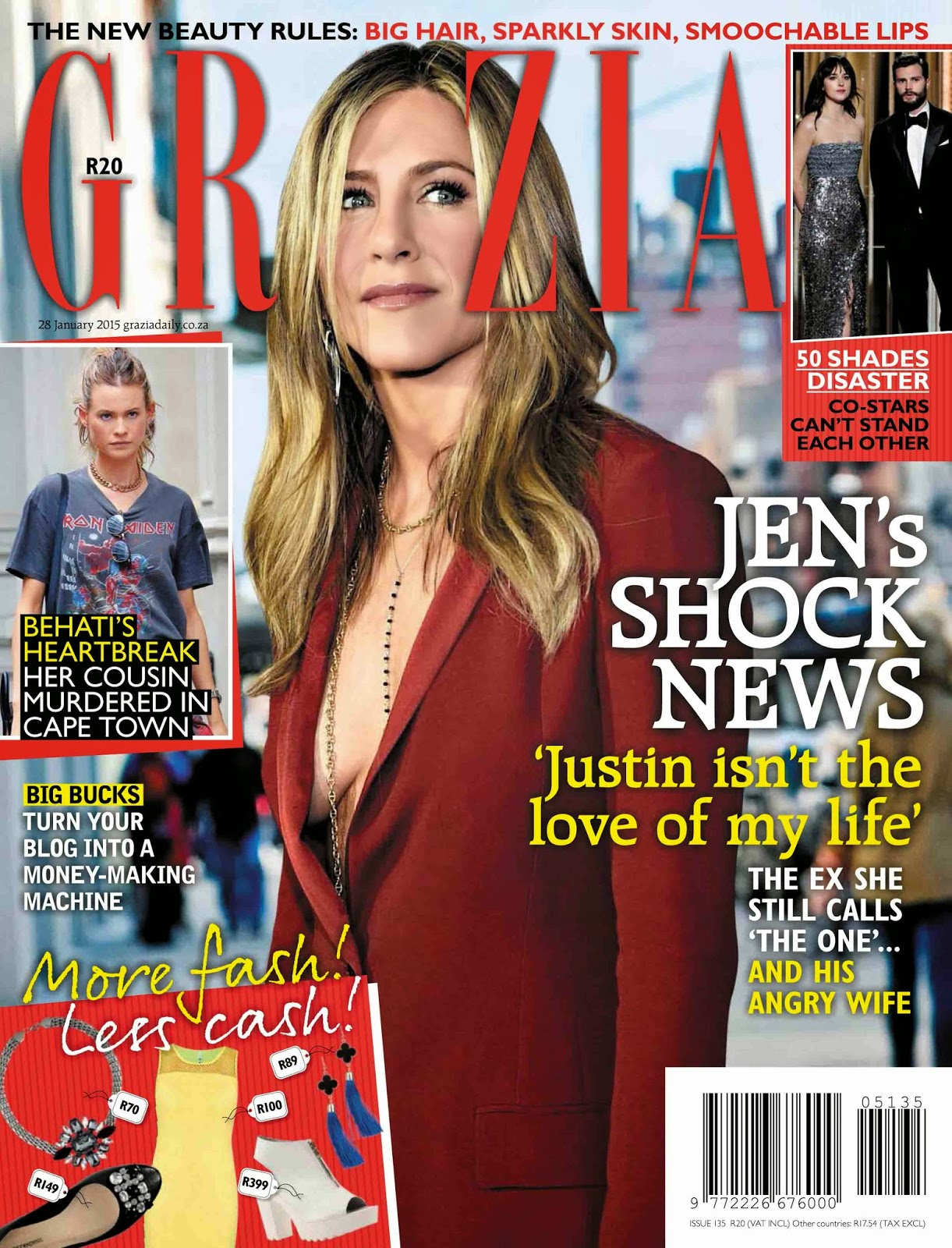 Actress: Jennifer Aniston  For Grazia South Africa