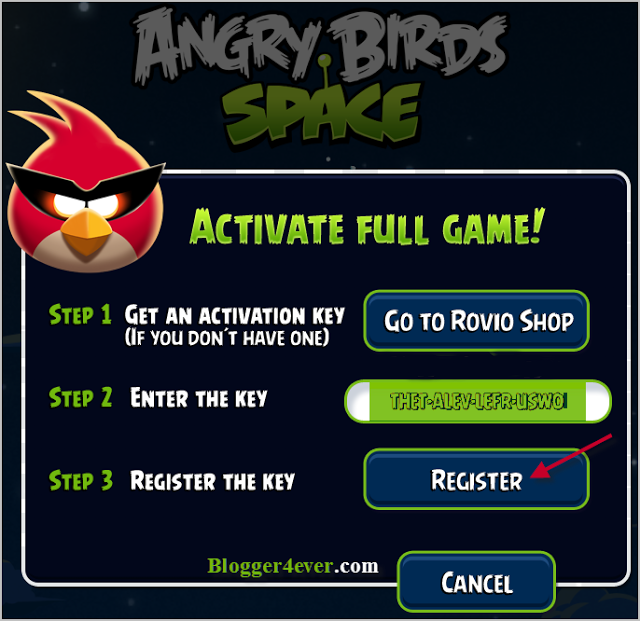angry birds pc full version activation key