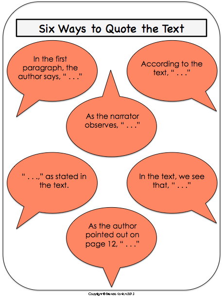 integrating quotes into essays worksheet