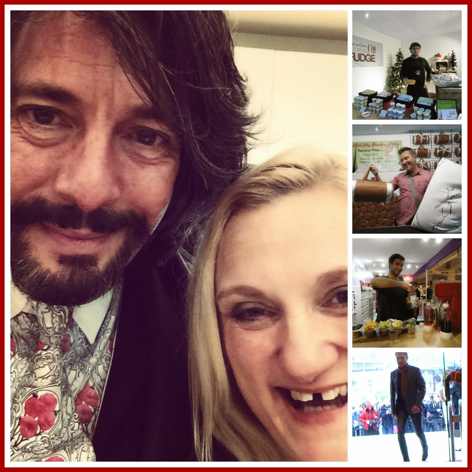 Laurence Llewelyn-Bowen, Gino D'Acampo and other men at Ideal Home Show