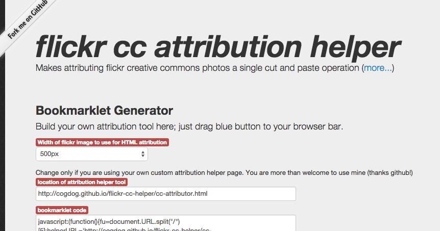 Updated Flickr CC Attribution Tool