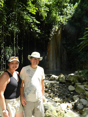The Jungs at Diamond Waterfall at Diamond Botanical Gardens St. Lucia by garden muses-not another Toronto gardening blog
