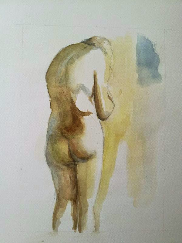 mujer de espaldas desnudo