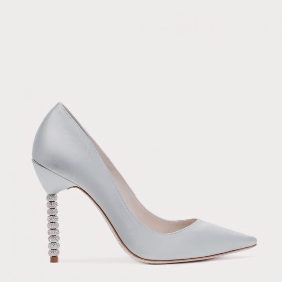 3d5e8e4ba0a802 Coco is an ice blue satin pump with 10cm crystal heel. But the kicking part  about them is the Wifey For Lifey inscription on the sole. Sophia Webster  ...