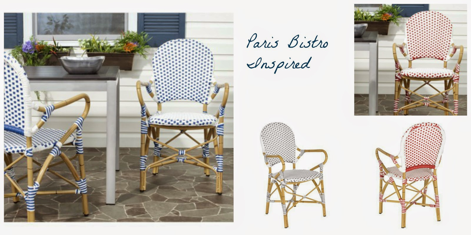 Wicker Patio Bistro Style Chairs Via Target