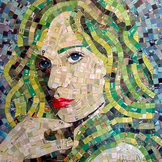 SandhiSchimmelGold5 Junk Mail Mosaics   Sandhi Schimmel Gold