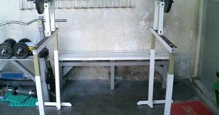 Homemade adjustable safety squat rack part 4 blackdove nest for Homemade safety squat bar