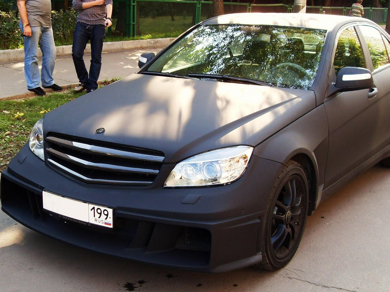 Mercedes benz c class w204 brabus matte benztuning for Matte mercedes benz