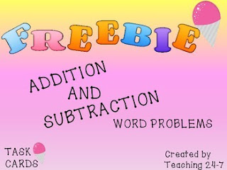 https://www.teacherspayteachers.com/Product/FREEBIE-Addition-and-Subtraction-Word-Problem-Task-Cards-1845190