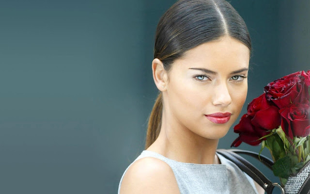 Adriana Lima Red Roses