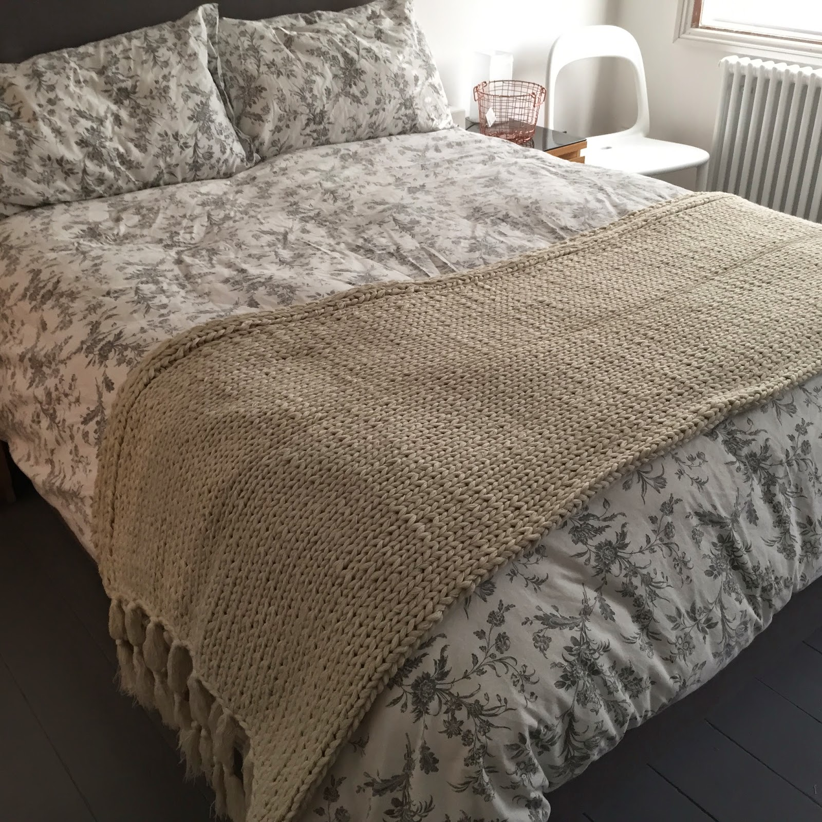 H&M Home Knitted Blanket