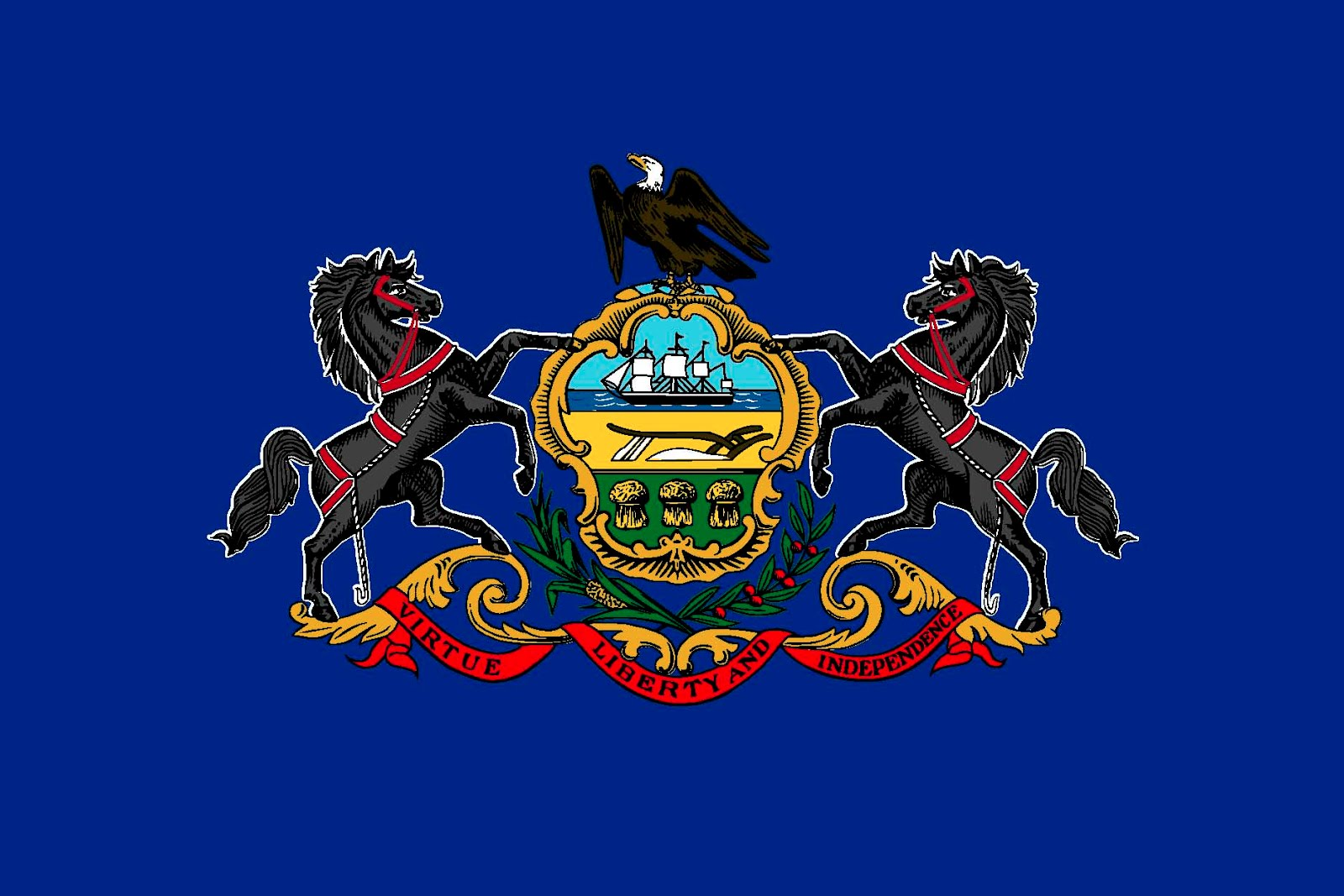 How to draw pennsylvania flag