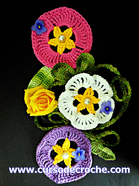 dvd flores cinco volumes loja curso de croche frete gratis aprender croche com edinir-croche